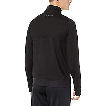 Peak Velocity Men's Cooldown Ultra-soft Athletic-Fit Jacket, Noir, Moyen