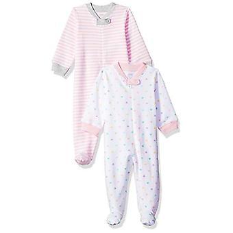 Essentials Baby 2-Pack Schlaf und Spiel, Mädchen Herz, Preemie