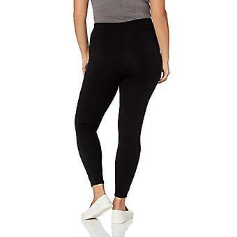 Brand - Daily Ritual Women's Plus Size Faux 5-Pocket Ponte Knit Legging, Black, 1X Regular