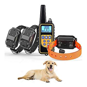 Waterproof Rechargeable Pet Electric Training Collar With Remote & Lcd Display