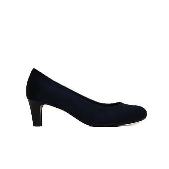 Gabor Nesta II 400-46 Marine Micro-Velour Damen Slip auf Hof Schuhe