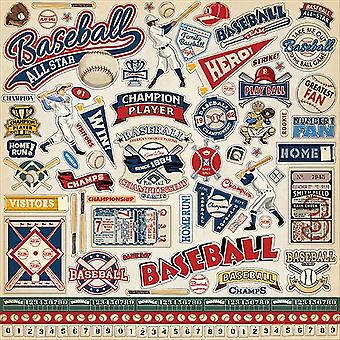 Carta Bella Baseball 12x12 Inch Element Sticker