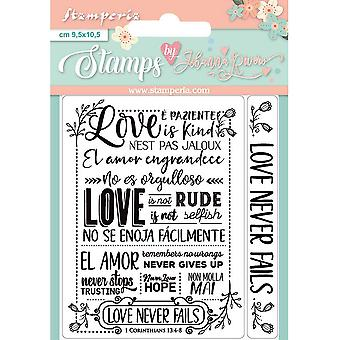 Stamperia Love Never Fails Clear Stamps