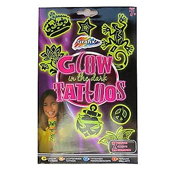 Girls Glow in the Dark Temporary Tattoos - 20 Designs Individuais