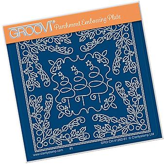 Groovi Tina's Christmas Tree Parchlet A6 Square Plate