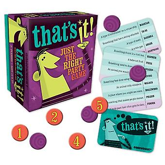 Games - Ceaco Gamewright - That's It! Kids New Toys 1104d