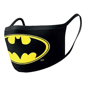 Batman Face mask Classic Logo Official Black 2 pack Protective Washable Reusable
