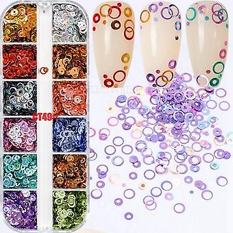 Mix taglie dreamlike Rainbow Round Holo Circle Sequins Nail Glitter Paillette