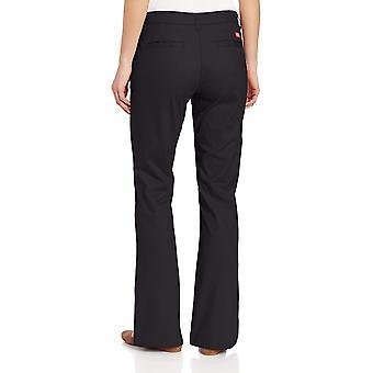 Dickies Women-apos;s Flat Front Stretch Twill Pant, Noir, 14 Régulier