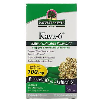 Nature's Risposta, Kava-6, 90 Capsule Vegetariane