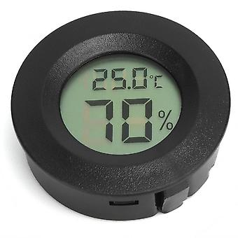 Embedded Round Shaped Digital Reptiles Thermometer Hygrometer For Pet Animal