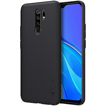 NILLKIN Xiaomi Redmi 9 Concha esmerilada dura - Negro