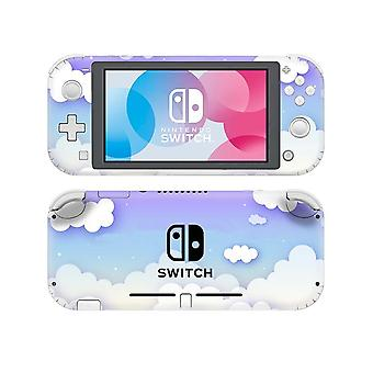 Hvid Cloud Trykt-vinyl Sticker til Nintendo Switch Lite