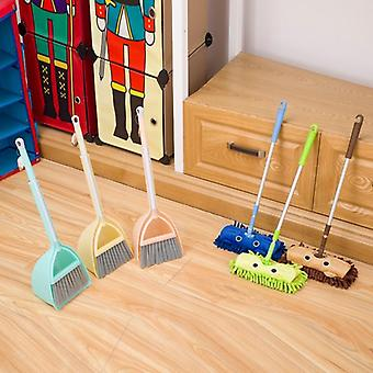 Mini Simulation Cleaning- Child Mop Broom & Dustpan Set Sweeping House