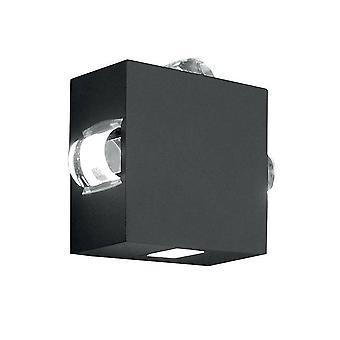 LED 4 Lys udendørs væg lys grafit IP54