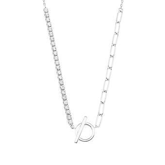 s.Oliver Jewel Damen Kette Halskette Silber Zirkonia Y-Collier 2028510