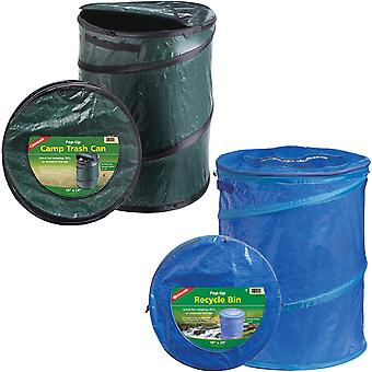 Coghlan-apos;s Pop-Up Camp Trash Can/Recycle Bin, Portable Collapsible Camping Basket