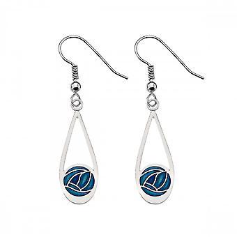 Sea Gems Mackintosh Rose Drop Earrings - Turquoise 7657tq
