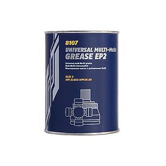 Mannol 800g EP-2 Moly Multi Purpose MoS2 Long Life Lithium Bearing Grease