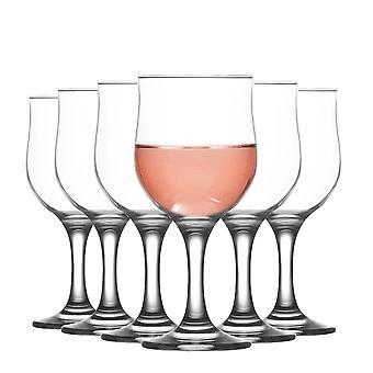 LAV Nevakar Gafas de Vino de Cáliz Medio - 320ml - Pack de 6 Goblets Stemware