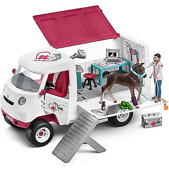 Schleich mobile vet with Hanoverian foal play set for children over 3 years old
