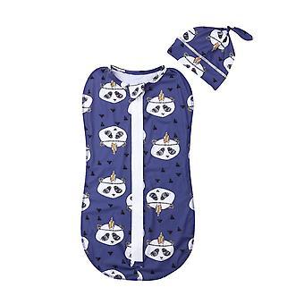 0-6 الشهر حديثي الولادة الأطفال الرضع بنات / الأولاد النوم أكياس والقبعات- الكرتون طباعة القطن الخريف بطانية