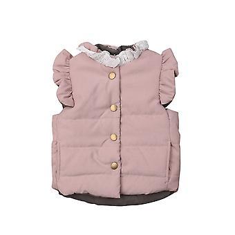 Baby Girls, Winter Coat Jacket, Mouwloze Vest Bovenkleding