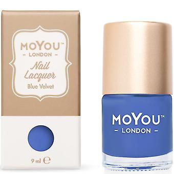 MoYou London Stamping Nail Laque - Blue Velvet 9ml (mn060)