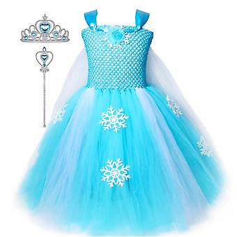 Princess Dresses Girls Costumes Birthday Party Halloween Costume Cosplay Dress Up For Little Girls