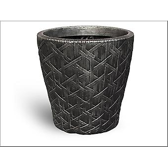 Ward Roma Weave Planter Pewter 32cm GN575
