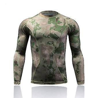 Quick Dry Tactical Combat Shirt, Camo Men Long Sleeve T Shirts