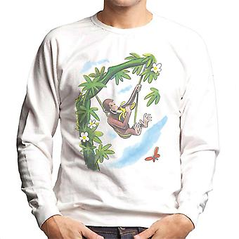 Curious George Vine Hammock And Banana Men's Sweatshirt