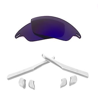 Polarized Replacement Lenses Kit for Oakley Fast Jacket Purple Mirror White Anti-Scratch Anti-Glare UV400 by SeekOptics