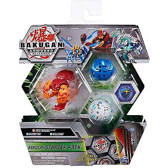 Bakugan Armored Alliance Starter Pack Pyrus Tretorous Ultra, Barbetra & Nillious