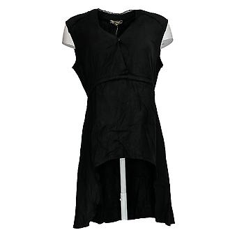 DG2 por Diane Gilman Women's Top Black Long Hi-Low Hem Sleeveless 723-661