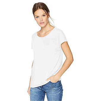 Tägliche Ritual Frauen's Jersey Kurzarm Boot Hals Shirt, weiß, Größe groß