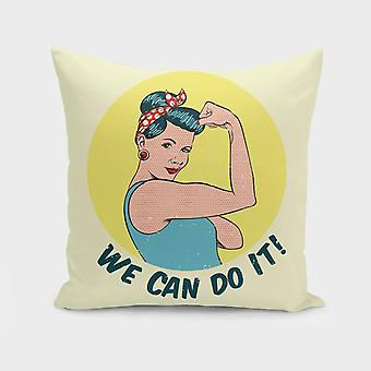 Pinup girl we can do it!  cushion/pillow
