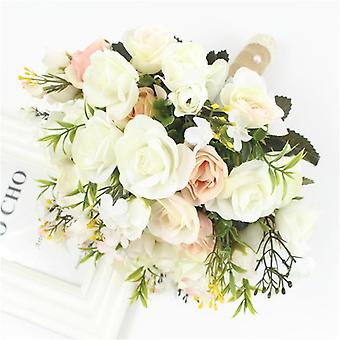 Bouquet di nozze Fiore artificiale fatto a mano, sposa per decorazioni nuziali