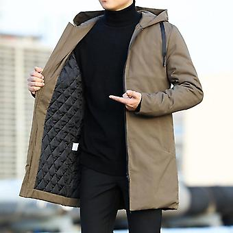 Men Jackets, Autumn Winter Trench Coat, Men Casual Thicken Warm Hooded Jacket