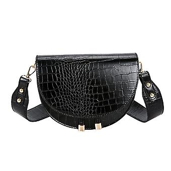 Luxusní krokodýlí vzor zimní kabelka měkké kožené designer ženské rameno