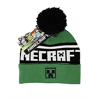 Minecraft Creeper Logo Pom Pom Beanie Hat