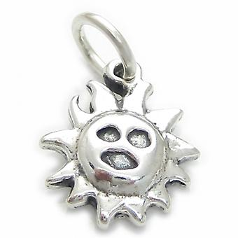 Sun Sterling Silver Charm .925 X 1 Warm Weather Charms - 3647