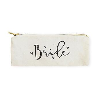 Bride-cotton Canvas Pencil Case And Travel Pouch