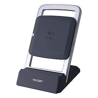 Ventev 15-Watt Wireless ChargeStand for Qi Wireless Charging Devices - Gray