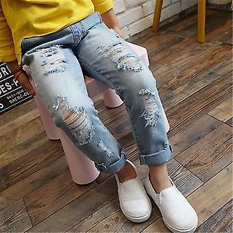 Children Ripped Hole Jeans Broken Denim Trousers For Baby &
