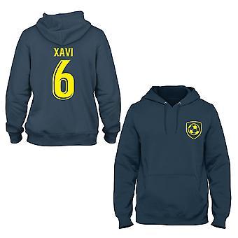 Xavi 6 Barcelona stil spelare hoodie