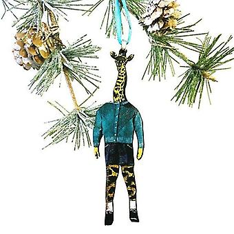 Giraff julprydnad