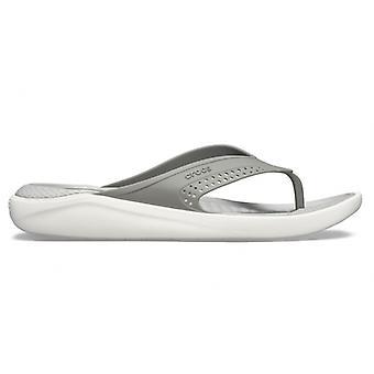Crocs 205182 Literide Flip Mens Slippers Smoke/pearl Wit