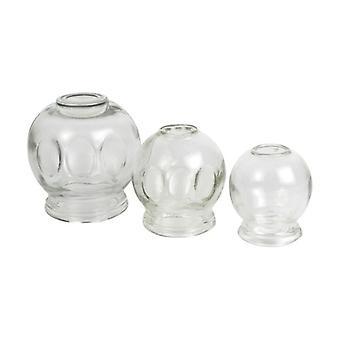 Glas sugekop sæt 3 enheder