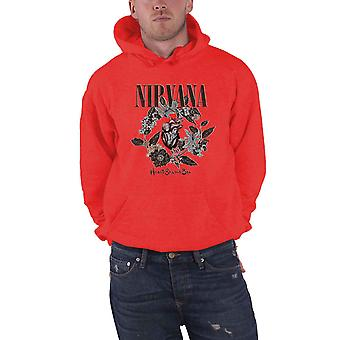 Nirvana Hoodie Heart Shaped Box Band Logo new Official Mens Red Pullover